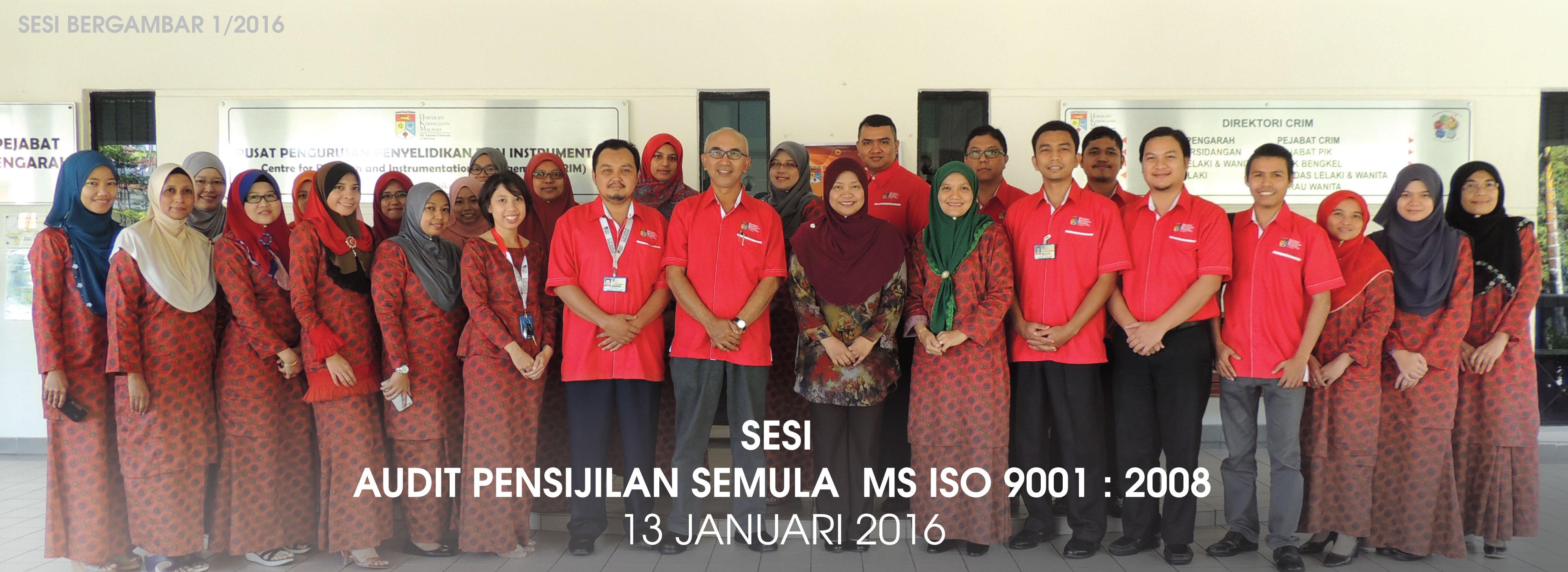 Sesi Audit ISO 1/2016